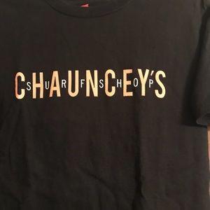 Hanes Tops - Chauncey's Surf Shop T Shirt.